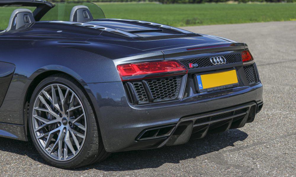 Audi R8 V10 spyder achterkant huren