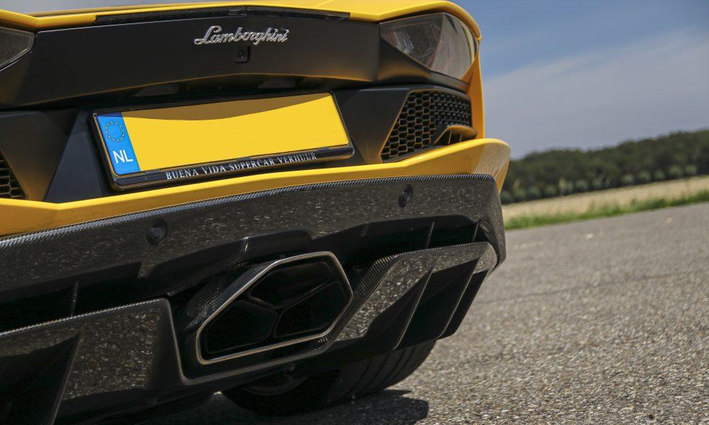 Lamborghini Aventador S exhaust